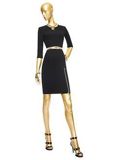 Versace - Stretch Zipped Dress