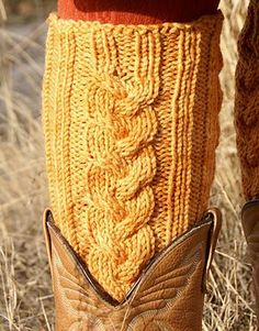 Ravelry: Waterlily Leg Warmers pattern by Andi Clark #free_pattern