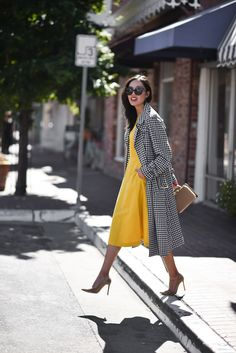 gorgeous silhouette in the dress and jacket
