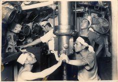 伊号第五十三潜水艦 1946年4月1日 爆破処分前 Japanese submarine I-58