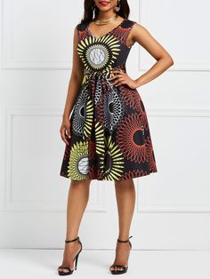 Tidebuy Cotton Blends V-Neck Women's A-Line Dress Source by tidebuyofficial dress modern Short African Dresses, African Fashion Designers, Latest African Fashion Dresses, African Print Dresses, Dress Fashion, African Print Dress Designs, African Print Clothing, African Print Fashion, African Inspired Fashion