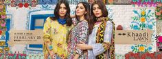 Khaadi's Spring Summer Lawn Collection 2017 Volume-1 has been launched and can be purchased by everyone because all the dresses are easily available on all the good stores. Another way of buying these dresses is online shopping. You can also buy these beautiful dresses of your choice by online stores. Khaadi fashion brand was introduced in 1998 and with the passage of time it is getting more popularity day by day. In a very short period this clothing brand has become a rising star these ...