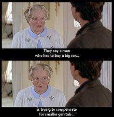 Robin Williams in Mrs. Doubtfire.