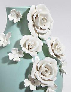 3D Floral Ceramic Vase | M&S