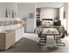 Tafel LIVORNO - Milenium eik lichtgrijs + wit | DEBA Meubelen Sweet Home, Kitchen, Table, Furniture, Home Decor, Ideas, Living Room, Cooking, Decoration Home