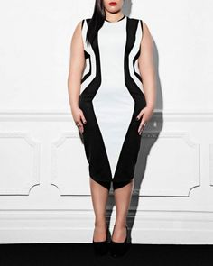 Geometrical Dress    £139.00  Item code: AW12DR001    Black and white    Black and white Punto Roma jersey with illusion effect    Dry clean advised