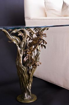 Bronze leafy sea dragon end tables!  'HIDDEN WITHIN' Limited edition of only 20 sets.