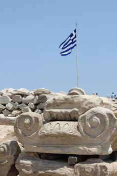 Athens Greek Flag, Go Greek, Places Around The World, Travel Around The World, Around The Worlds, Acropolis, Parthenon, Pocket Full Of Sunshine, Athens Greece