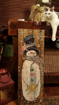DIY Christmas Decorations Easy and Cheap - Snowman Candle Holders, Christmas Wood Crafts, Pallet Christmas, Christmas Nativity Scene, Snowman Crafts, Christmas Signs, Christmas Art, Christmas Projects, Holiday Crafts, Christmas Decorations