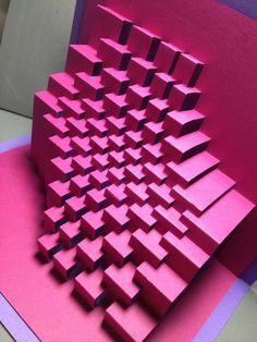 Trochoid: Kirigami Popup Papier Skulptur von Ullagami auf Etsy