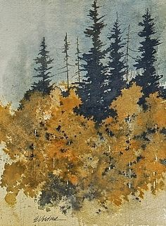 Landscapes in Watercolor Watercolor Painting Techniques, Watercolor Projects, Watercolor Landscape Paintings, Watercolor Trees, Watercolor Artists, Abstract Watercolor, Abstract Landscape, Watercolor Pictures, Tree Art