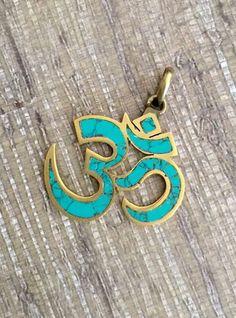 Hindu Sanskrit OM Pendant Turquoise Handmade Nepal | eBay