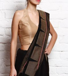 Copper Golden Padded Silk #Blouse #Indianroots