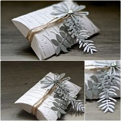 Crafting ideas from Sizzix UK: Pillow Box Gift Card Boxes, Paper Gift Box, Diy Gift Box, Paper Gifts, Favor Boxes, Christmas Gift Wrapping, Diy Christmas Gifts, Christmas Christmas, Handmade Christmas