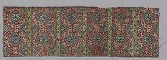 Date: first half 16th century Geography: Turkey, probably Istanbul Culture: Islamic Medium: Silk, metal wrapped thread; taqueté (seraser) Dimensions: Textile: H. 17 7/8 in. (45.4 cm) W. 5 3/4 in. (14.6 cm)