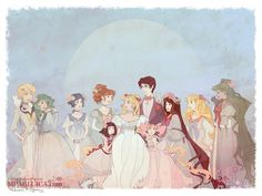 Moon Court by DarkSunRose.deviantart.com on @deviantART. I love the way they combined Sailor Moon and period clothing.