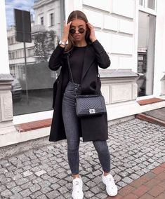 Danielle Blazer Dress Black Woman Trousers women's skirt like trousers Casual Winter Outfits, Winter Fashion Outfits, Fall Outfits, Winter Dresses, Church Outfits, Summer Outfits, Classy Outfits, Fashion Clothes, Chic Black Outfits