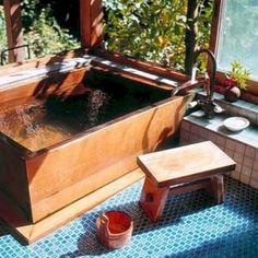 Typical Japanese bath made by East Wind Inc. Typical Japanese bath made by East Wind Inc. Japanese Bathtub, Japanese Soaking Tubs, Japanese Bath House, Japanese Style Bathroom, Traditional Japanese House, Traditional Bathroom, Japanese Homes, Diy Bathroom Decor, Small Bathroom