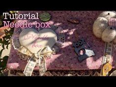 tutorial - needle box (cestino del cucito)   arianna nannetti - YouTube