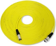"""GLS Audio 50ft Mic Cable Patch Cord - XLR Male to XLR Female Yellow Microphone Cable - 50' Balanced Mike Snake Cord by GLS Audio. Save 35 Off!. $25.99. Professional Series Noise Free Mic Cables. They have a thick, high quality, flexible rubber jacket. They are heavy duty Noise Free """"True Balanced LO-Z"""" and have 3 pin XLR connectors on each end. These cables have dual insulated copper conductors plus they are shielded. They are hand wired & hand soldered and have high quality metal ends…"""