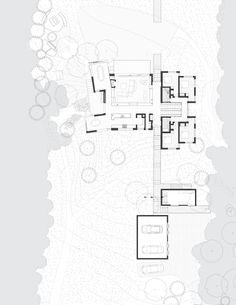 Gallery of Island House / Peter Rose + Partners - Residential Architecture, Architecture Drawings, Architecture Plan, Residential Architecture, Garage Guest House, Floor Plan Drawing, Site Plans, Detailed Drawings, Map Design, Technical Drawing