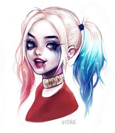 Image about girl in Drawings by Veleslava on We Heart It Joker Und Harley Quinn, Harley Quinn Drawing, Cartoon Girl Drawing, Cartoon Art, Stickers Kawaii, Queen Anime, Barbie Paper Dolls, Pinturas Disney, Anime Art Girl