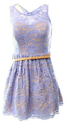City Studio NEW Blue 11 Junior Floral Lace Illusion Belted Sheath Dress $79