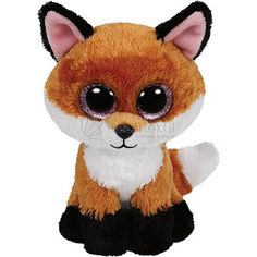 Ty Beanie Boos Slick The Brown Fox Plush Listing in the Ty Beanie Babies,Beanies & Beanbag,Dolls & Bears Category on eBid United States Ty Beanie Boos, Beanie Babies, Big Eyed Stuffed Animals, Fox Stuffed Animal, Peluche Lion, Ty Babies, Baby Kids, Fox Kids, Ty Toys