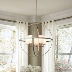 Raine Chandelier - All For Decoration Globe Chandelier, Dining Room Lighting, Modern Lighting Chandeliers, 5 Light Chandelier, Dining Chandelier, Light, Modern Lighting, Globe Lights, Chandelier Shades