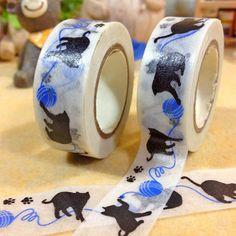 15mm*10 m Kawaii Black cat washi tape Japanese paper Decorative tape DIY Scrapbooking Sticker escolar shcool supplies zakka-in Office Adhesive Tape from Office & School Supplies on Aliexpress.com | Alibaba Group