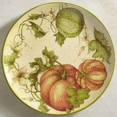 Harvest Garden Pumpkin Dinner Plate