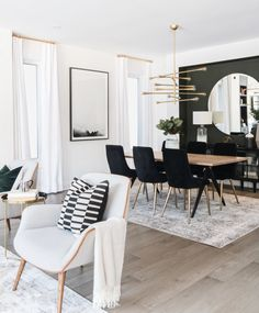 Modern but cozy living room and dining room design by Ottawa based interior design firm, Leclair Decor. Modern but cozy living room and dining room design by Ottawa based interior design firm, Leclair Decor. Living Room And Dining Room Design, Dining Room Walls, Cozy Living Rooms, Interior Design Living Room, Home And Living, Living Room Designs, Modern Living Room Decor, Dining Area, Modern Room