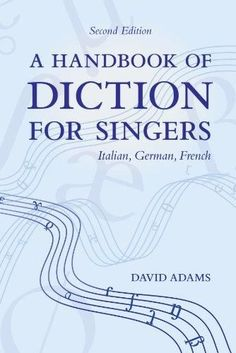 48 best great books about music images on pinterest online book a handbook of diction for singers italian german french fandeluxe Choice Image