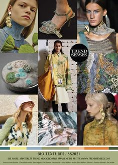 Bio Textures - moss, molecule inspired colors, patterns, and textures Fashion 2020, Fashion Trends, Fashion Colours, Color Trends, Beautiful Images, Spring Summer, Summer Time, Women Wear, Fashion Design