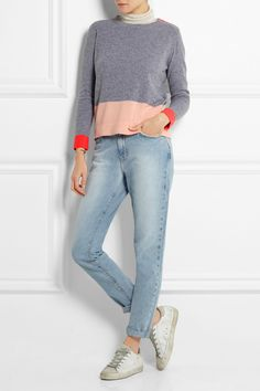 Chinti and Parker   Color-block cashmere sweater   NET-A-PORTER.COM