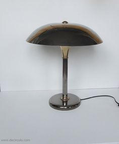 Beautifull french tablelamp with metal shade by decirculo on Etsy