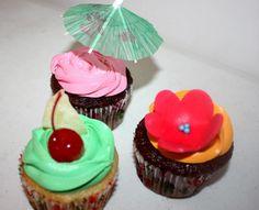 Hawaiian Cupcakes- Piña Colada with Cream Cheese