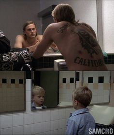 Jax Teller & son Abel Teller, Sons of Anarchy.