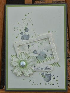 Stampin' Up Gorgeous Grunge, Flower Shop & frame framelit - nice combo of elements