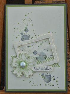 Stampin' Up Gorgeous Grunge, Flower Shop & frame framelit - nice combo of elements