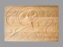 """Raven's Dream"" Panel Don Yeomans (Haida) Panels | Douglas Reynolds Gallery"