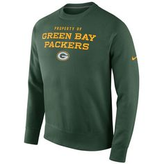 Men s Green Bay Packers Nike Green Stadium Classic Club Crew Sweatshirt 5aeb07656