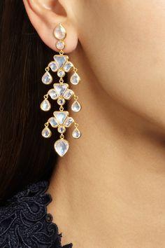 MUNNU The Gem Palace 22-karat gold moonstone earrings NET-A-PORTER.COM