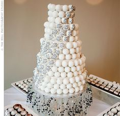Wedding Cake Pop Stands | The Knot via Party Favorites