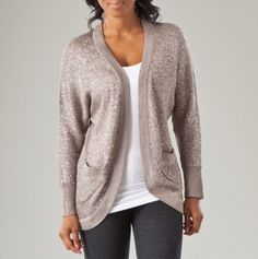 Long Sequin Cardigan Sweater