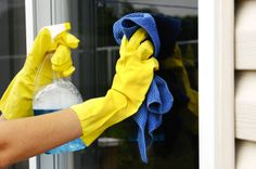 Cleaning tip: mixing 1/4 cup vinegar with two quarts of water is a cost-effective and safe solution for cleaning windows.