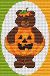 Cute Teddy Bear cross stitch pattern