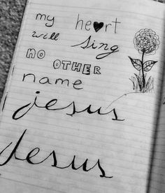 My heart will sing no other name