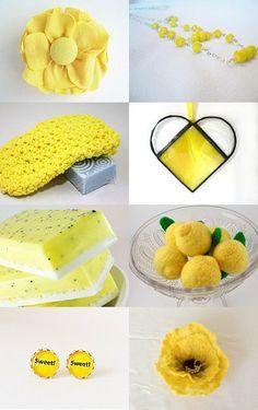 Lemony Sunshine by Bonnie Sernesky on Etsy--Pinned with TreasuryPin.com
