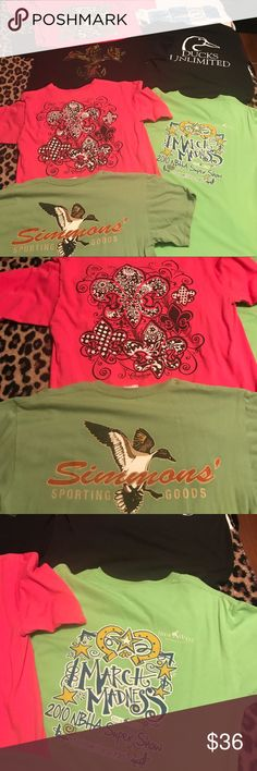 T-Shirt lot! 7 Medium sized southern style shirts! 7 misc T-shirt's in good used condition! Perfect for any southern gal!! Or just anyone who loves random T-shirt's like me! All will be washed before shipping. Offers considered! Tops Tees - Short Sleeve